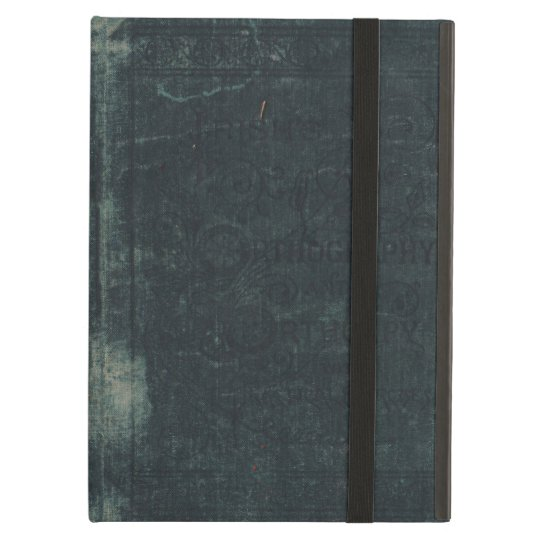 Worn and Torn Vintage Blue Book Cover Case For iPad Air