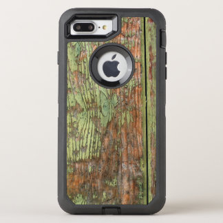 Worn and Weathered Green Barn Wood OtterBox Defender iPhone 8 Plus/7 Plus Case