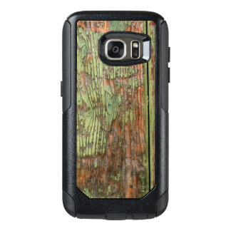 Worn and Weathered Green Barn Wood OtterBox Samsung Galaxy S7 Case