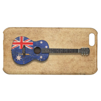 Worn Australian Flag Acoustic Guitar Cover For iPhone 5C