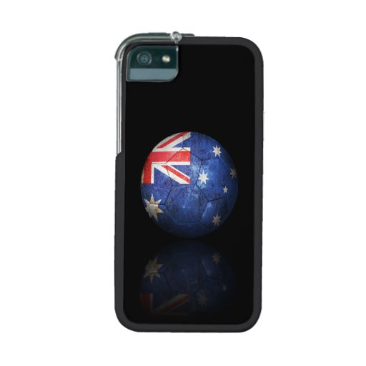 Worn Australian Flag Football Soccer Ball Case For iPhone 5