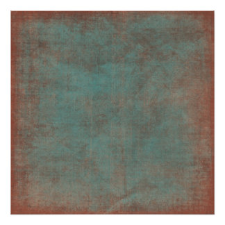 Worn Blue & Red Backdrop Canvas Poster