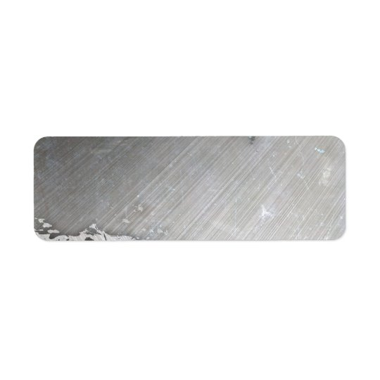 Worn Brushed Metal (faux) Layout Return Address Label