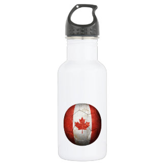 Worn Canadian Flag Football Soccer Ball 532 Ml Water Bottle