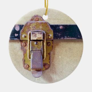 Worn Catch on Old Case Ceramic Ornament
