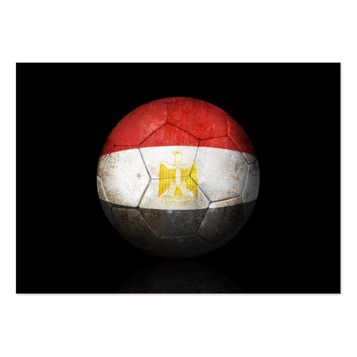 Worn Egyptian Flag Football Soccer Ball Business Cards