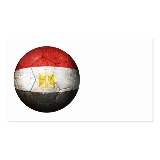 Worn Egyptian Flag Football Soccer Ball Business Card