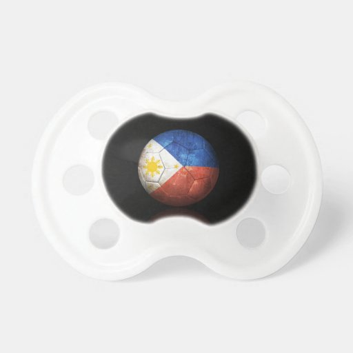 Worn Filipino Flag Football Soccer Ball Baby Pacifier