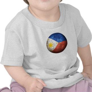 Worn Filipino Flag Football Soccer Ball T-shirts