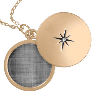 Worn Grunge Cloth Locket Necklace