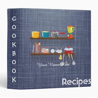 Worn Jeans utensils recipe binder book
