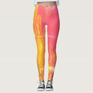 Worn Look Red Splash - Leggings