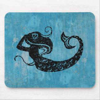 Worn Mermaid Mouse Pad
