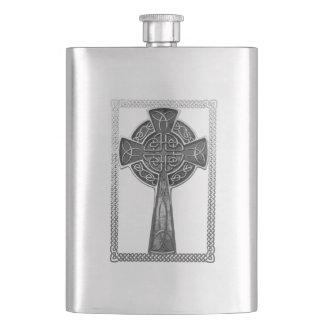 Worn Metal Cross Flask