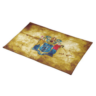 Worn New Jersey Flag; Placemats
