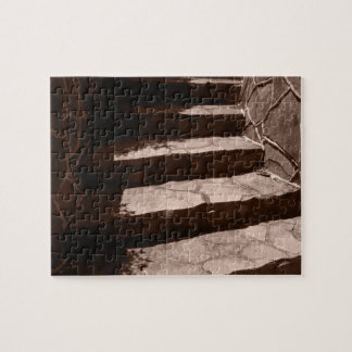 worn old stone steps to a castle jigsaw puzzle