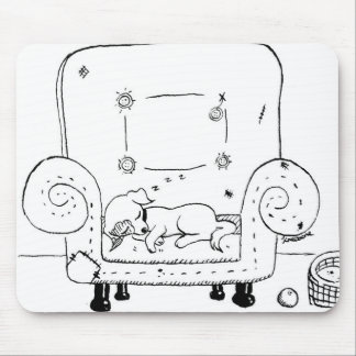 Worn out Jack Russell Puppy Mouse Pad