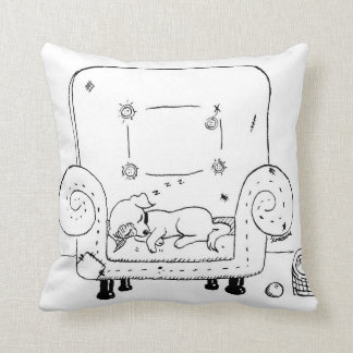 Worn out Jack Russell Puppy Throw Pillow