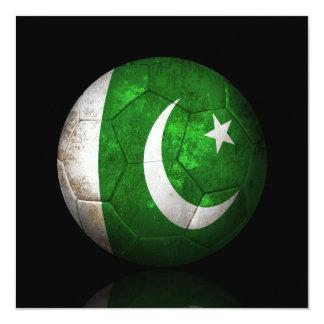 Worn Pakistani Flag Football Soccer Ball Card