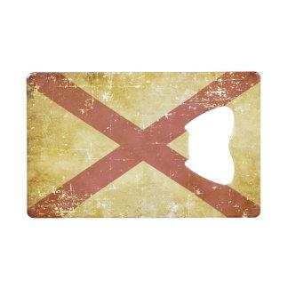 Worn Patriotic Alabama State Flag Credit Card Bottle Opener