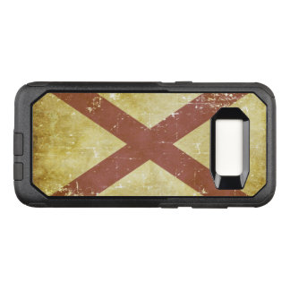 Worn Patriotic Alabama State Flag OtterBox Commuter Samsung Galaxy S8 Case