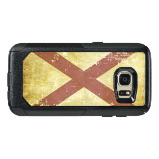 Worn Patriotic Alabama State Flag OtterBox Samsung Galaxy S7 Case