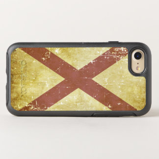 Worn Patriotic Alabama State Flag OtterBox Symmetry iPhone 8/7 Case
