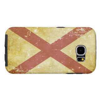 Worn Patriotic Alabama State Flag Samsung Galaxy S6 Cases