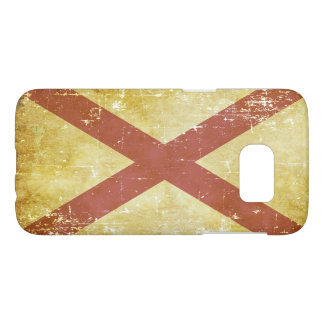 Worn Patriotic Alabama State Flag Samsung Galaxy S7 Case
