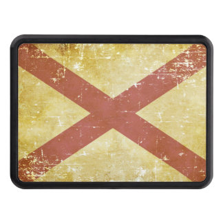 Worn Patriotic Alabama State Flag Trailer Hitch Cover