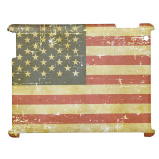 Worn Patriotic American Flag Cover For The iPad