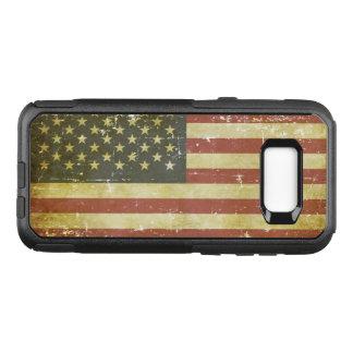 Worn Patriotic American Flag OtterBox Commuter Samsung Galaxy S8+ Case