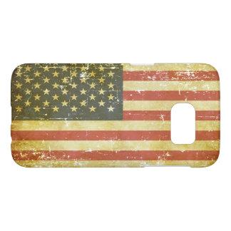Worn Patriotic American Flag Samsung Galaxy S7 Case