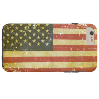Worn Patriotic American Flag Tough iPhone 6 Plus Case