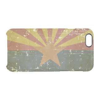 Worn Patriotic Arizona State Flag Clear iPhone 6/6S Case