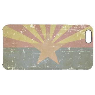 Worn Patriotic Arizona State Flag Clear iPhone 6 Plus Case