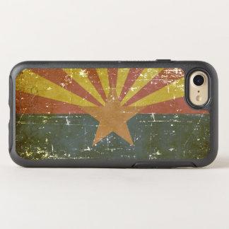 Worn Patriotic Arizona State Flag OtterBox Symmetry iPhone 8/7 Case
