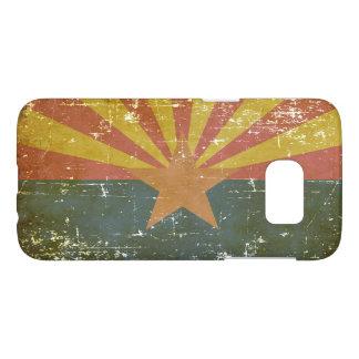Worn Patriotic Arizona State Flag Samsung Galaxy S7 Case