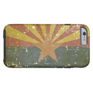 Worn Patriotic Arizona State Flag Tough iPhone 6 Case