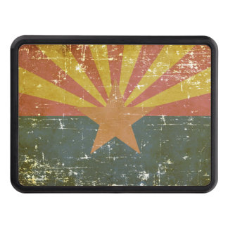 Worn Patriotic Arizona State Flag Trailer Hitch Cover