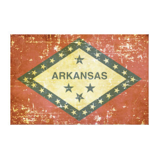 Worn Patriotic Arkansas State Flag Canvas Print
