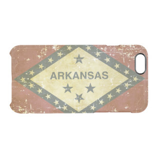 Worn Patriotic Arkansas State Flag Clear iPhone 6/6S Case