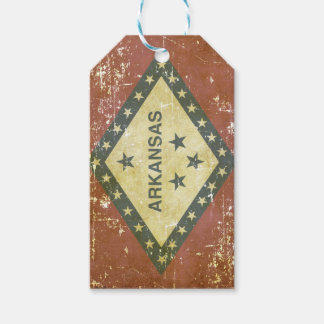 Worn Patriotic Arkansas State Flag Gift Tags