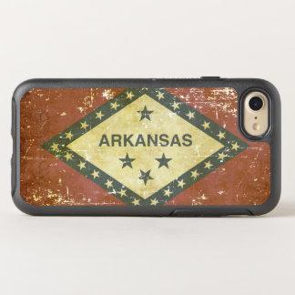 Worn Patriotic Arkansas State Flag OtterBox Symmetry iPhone 8/7 Case