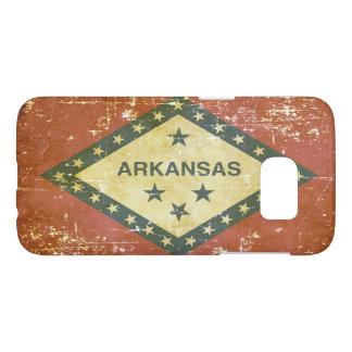 Worn Patriotic Arkansas State Flag Samsung Galaxy S7 Case