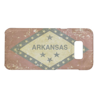 Worn Patriotic Arkansas State Flag Uncommon Samsung Galaxy S8 Plus Case