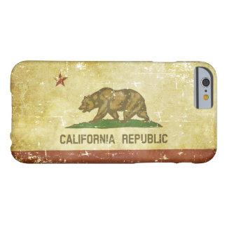 Worn Patriotic California State Flag Barely There iPhone 6 Case
