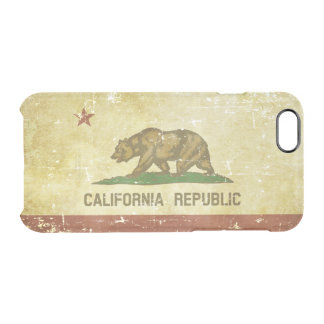 Worn Patriotic California State Flag Clear iPhone 6/6S Case