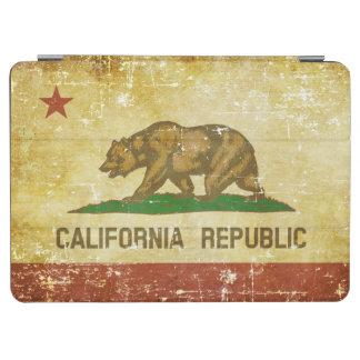 Worn Patriotic California State Flag iPad Air Cover
