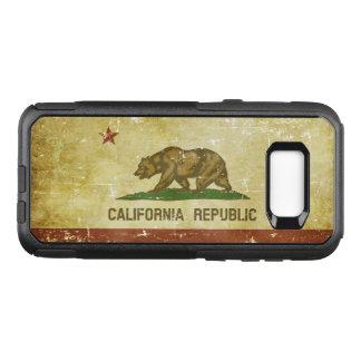 Worn Patriotic California State Flag OtterBox Commuter Samsung Galaxy S8+ Case